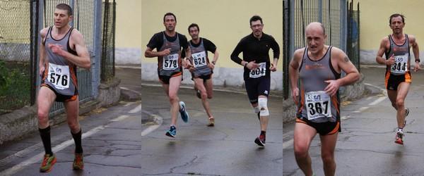 Massardi, Tononi Crescini, Botta, Serana e Avallone in azione a Cigole.
